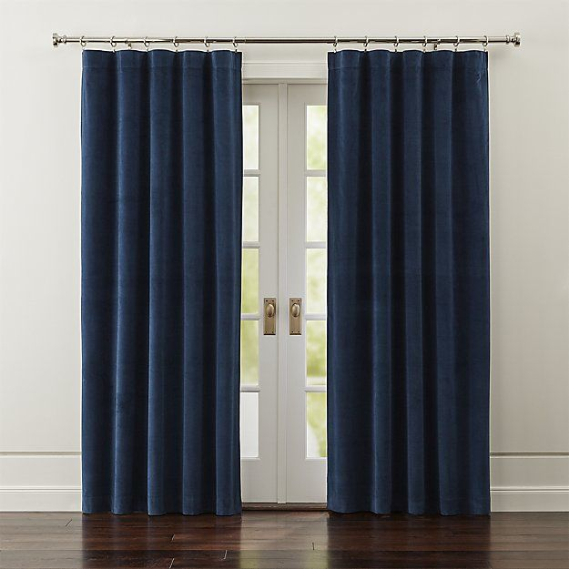 Windsor Blue Velvet Curtains Crate And Barrel Blue Velvet