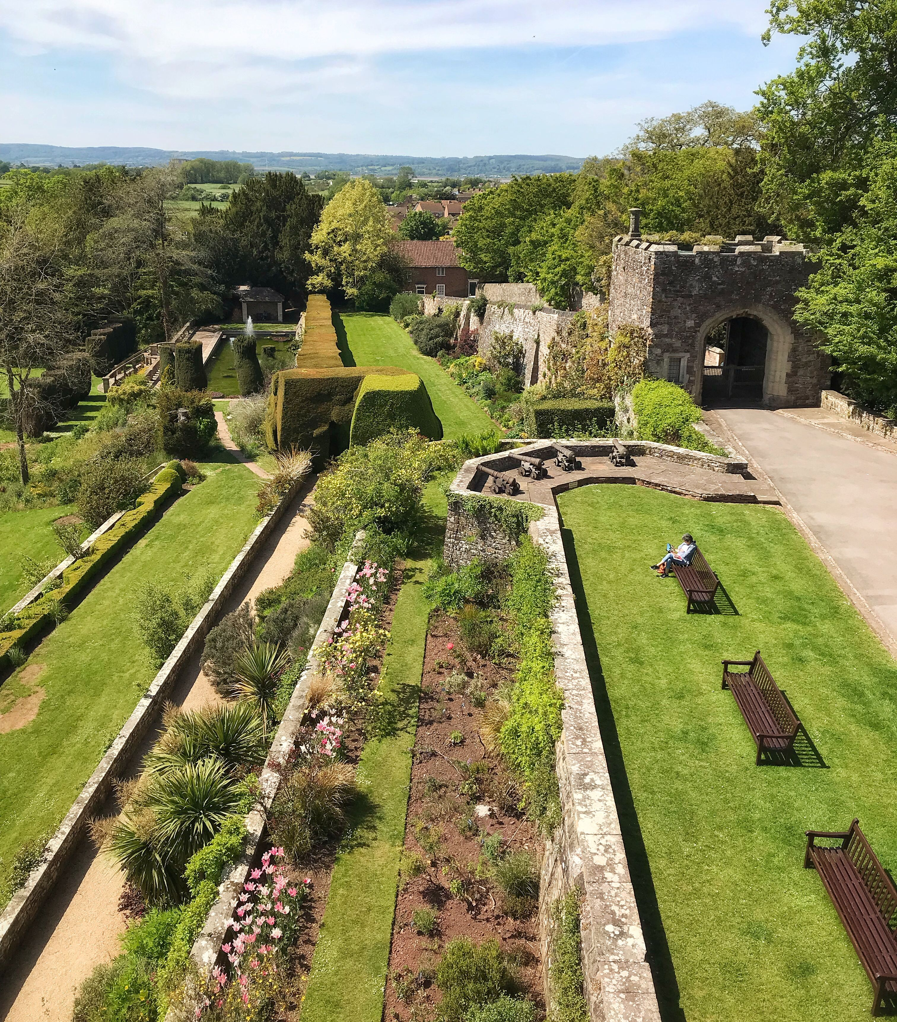 A stunning photo taken from the roof of the Castle showing ...