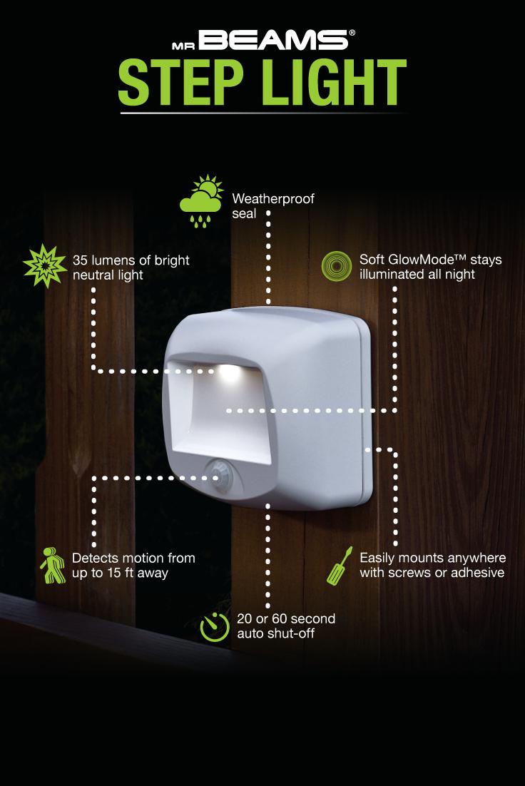 Mr Beams Wireless Motion Sensor Led Step Lights Stair