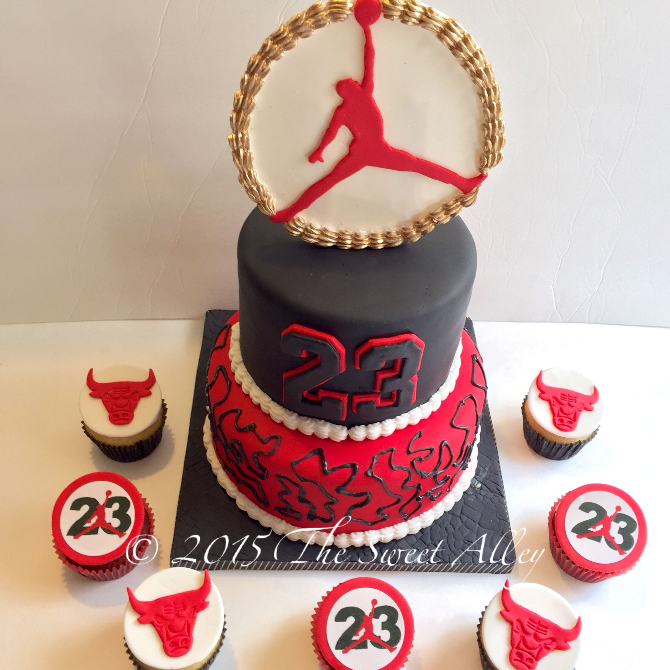 Baby Shower Cake Decorations At Michaels : Michael Jordan / Chicago Bulls cake and cupcakes by The ...