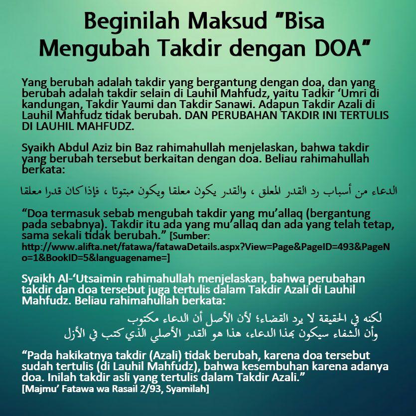 Pin Oleh Humyra Dina Di Islam Doa Takdir Dan Islamic Quotes