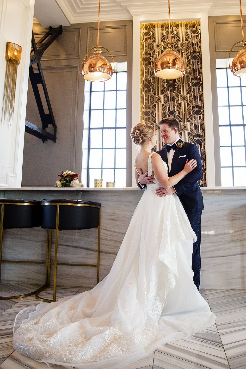 This Kansas City Bride's Modern Take on a Classic Gown