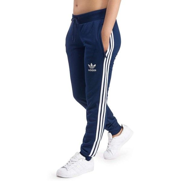 adidas Originals Poly 3 Stripes Pants ($56) ❤ liked on