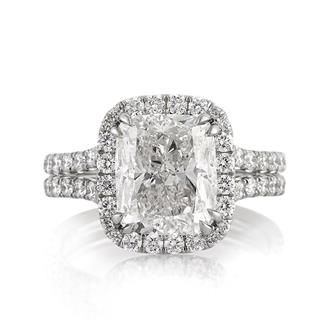 5.30ct Cushion Cut Diamond Engagement Anniversary Ring available at MarkBroumand.com!