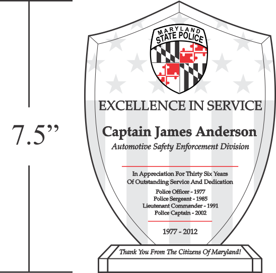 unique police recognition plaques and sample wordings sample