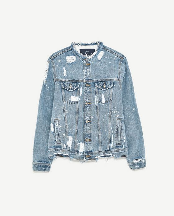 e17a1b6ee523 Image 8 of RIPPED DENIM JACKET from Zara