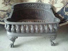 Image result for antique fireplace firebox grate for sale Gorgeous Antique Ornate Cast Iron Fireplace Grate Excellent Condition | eBay