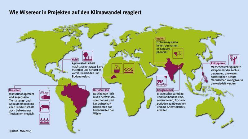 Karte Mit Misereor Projekten Zum Thema Klimawandel Katastrophen