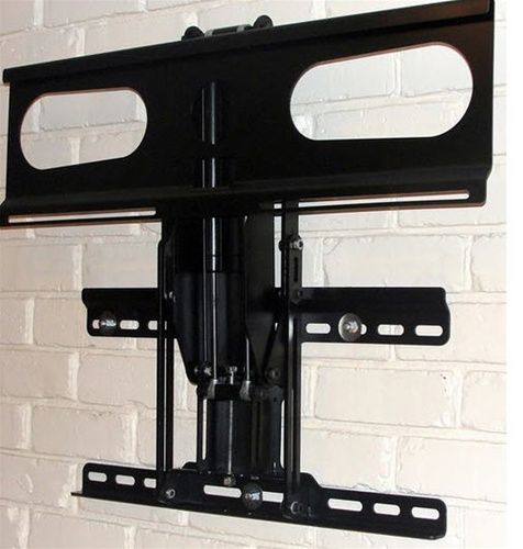Fireplace tv mount extends out and swings downward 30 for Comfortvu motorized tv mount