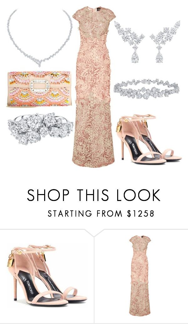 """""""Без названия #12818"""" by zhebiton ❤ liked on Polyvore featuring Tom Ford, J. Mendel, Roger Vivier and Harry Winston"""