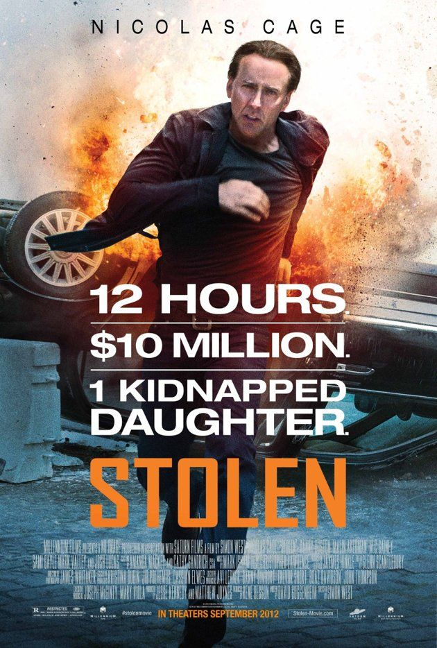 The Worst: STOLEN    Aside from the blatant effort -- from the font to the tagline -- to replicate the marketing of 'Taken,' the expression on Nicolas Cage's face looks like he's wearing a rubber Halloween mask of Nicolas Cage's face.