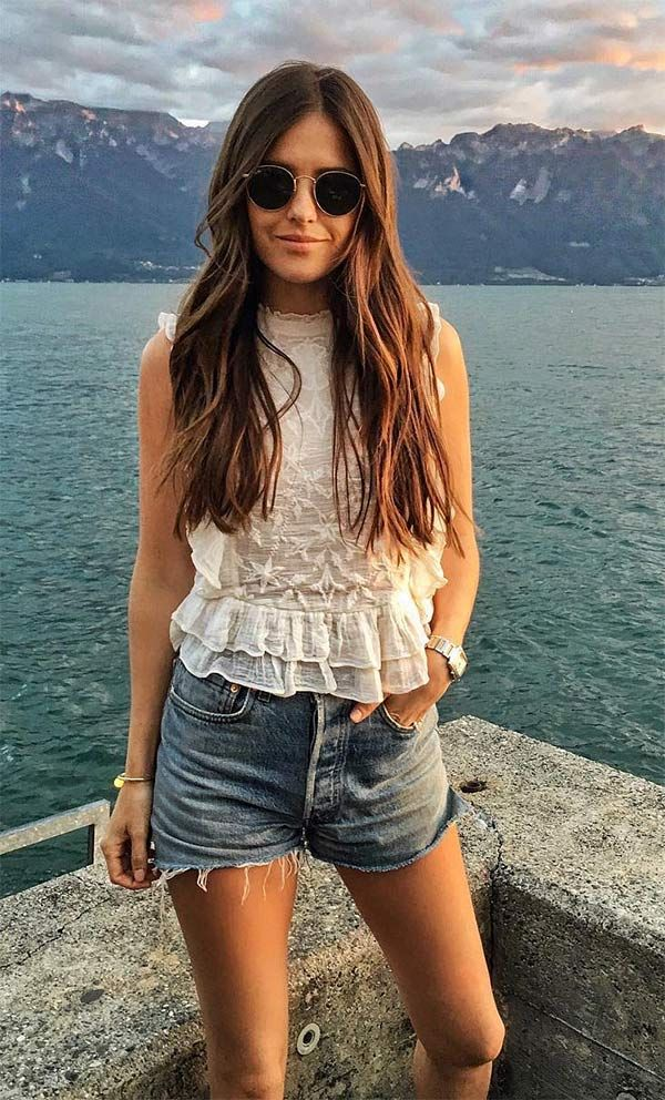 883b374f6 Como ser chic usando shorts jeans » STEAL THE LOOK