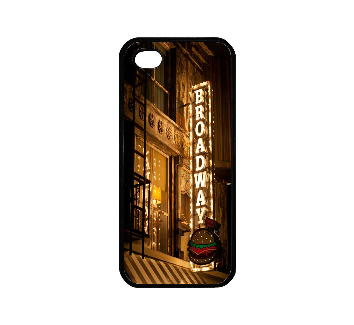 Protective RUBBER iPhone 5 Case Broadway. 19.00, via Etsy