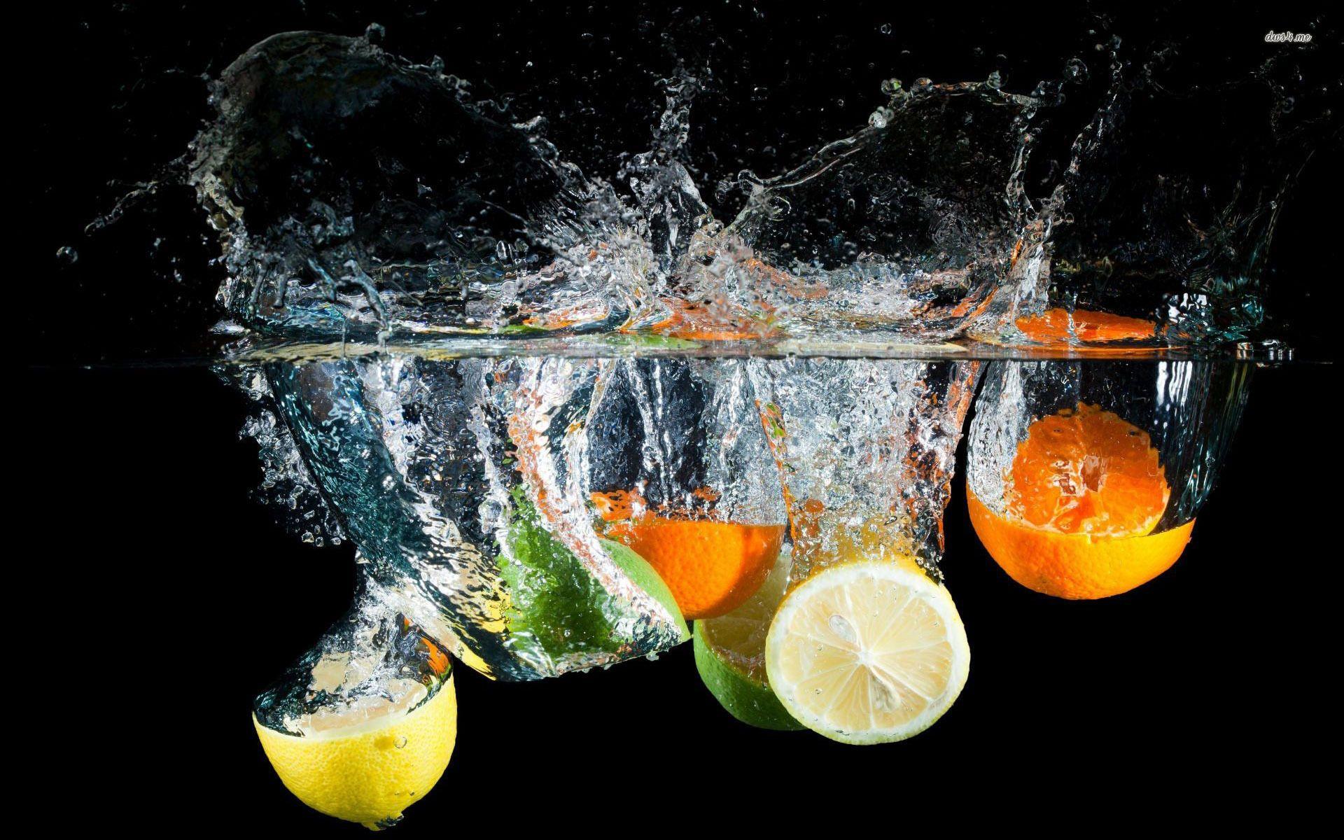 Colorful Lemon Fruit Hd Wallpaper Free Download Splash Photography Citrus Water Fruit Photography