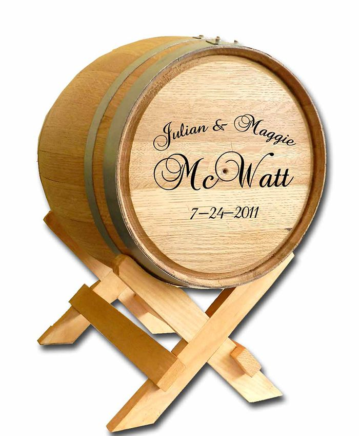 Wedding Wine Barrel Personalized Card Box