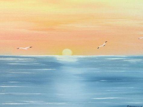 33 Ideas For Painting Ideas Acrylic Easy Colour Beach Art Painting Beach Sunset Painting Sunset Painting Easy