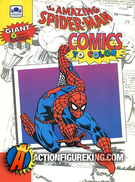 1992 Golden And Gold Key 6 Panel Foldout Spider Man Comics To Color Coloring Book With Trivia Fun Facts Car Spiderman Comic Amazing Spider Man Comic Spiderman