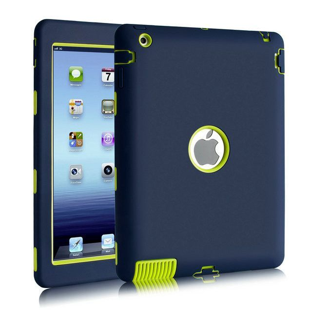 fbe59f55ad For Apple iPad 2 iPad 3 iPad 4 Amor Shockproof Heavy Duty Rubber Hard Case  Cover w/Screen Protector Film+Stylus Pen Free Ship