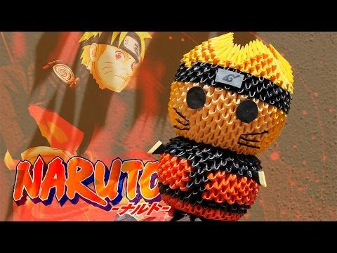 Naruto 3d Origami Pekeo Youtube Crafts Pinterest 3d