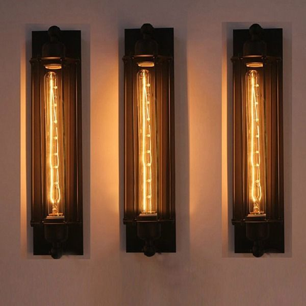 New Industrial Long Wall Lamp Retro Wall Light Rustic Wall Sconce Vintage Light Industrial Wall Lights Wall Lamp Metal Wall Lamp
