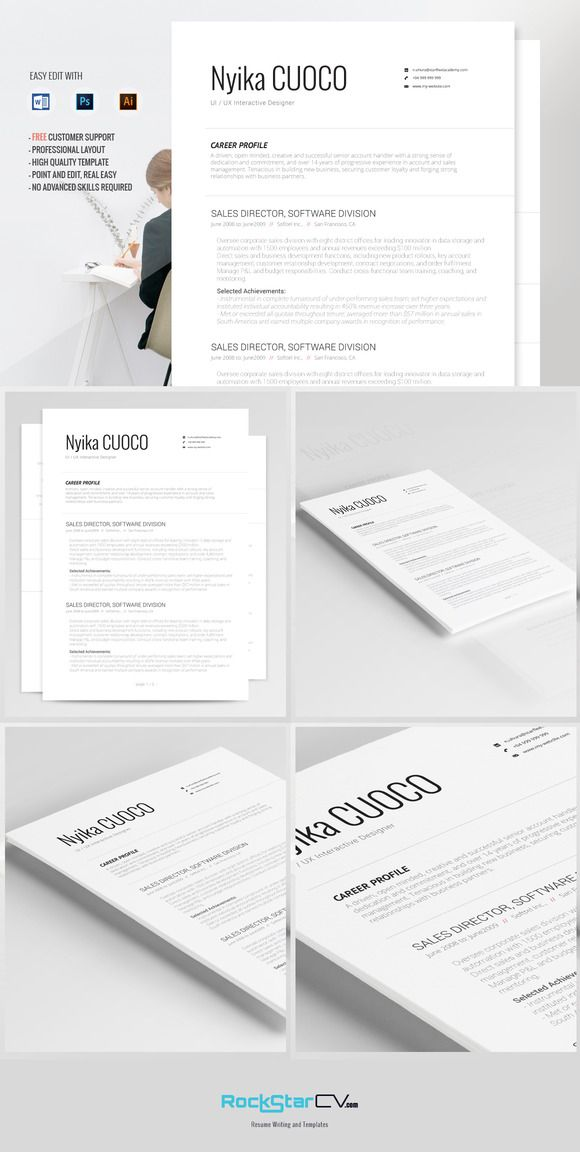 Resume Template Nyika Resume Templates - Business Resume, Writing