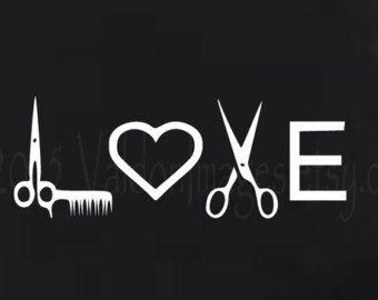 Love Hairstylist Car Decal Laptop Decal Vinyl Decal Sticker - Hair stylist custom vinyl decals for car