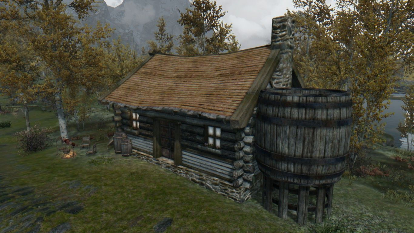 Cute Riften Family Cottage With No Dlc Version At Skyrim Nexus Mods And Community Skyrim Skyrim Mods Skyrim Nexus Mods