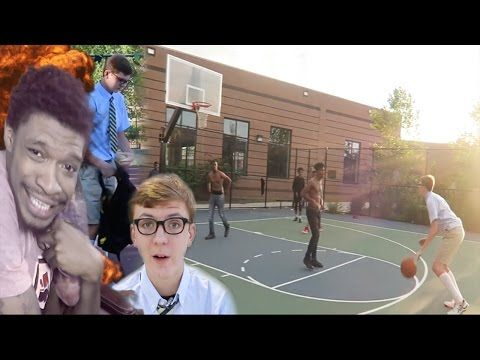 Nerd Plays Basketball In The Hood Youtube Hood Nerd Basketball