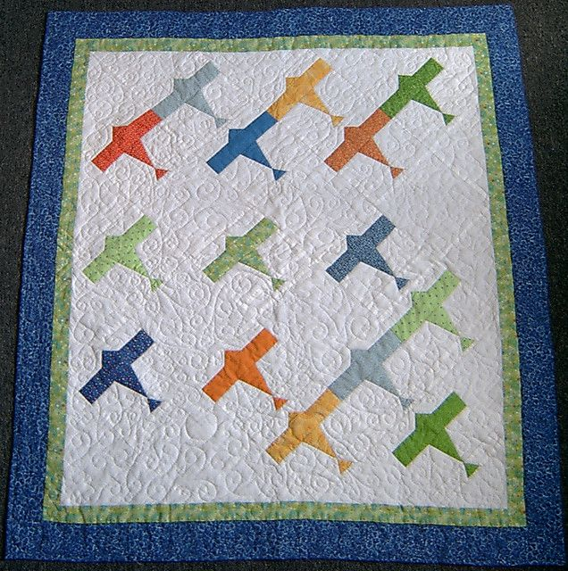 Airplane Quilt- whole view | Airplane quilt, Airplanes and Kid quilts : airplane quilts - Adamdwight.com