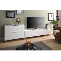 Photo of Maja Möbel Shino living room set, 2 pcs. White matt / white glass Maja