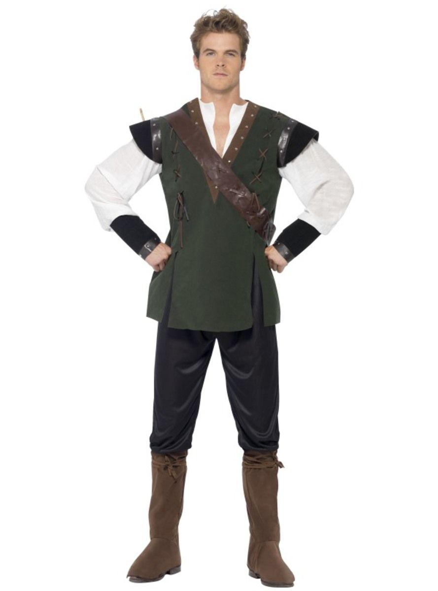 Kostým pro dospělé neohrožený lesní zbojník Robin  82e2c748578