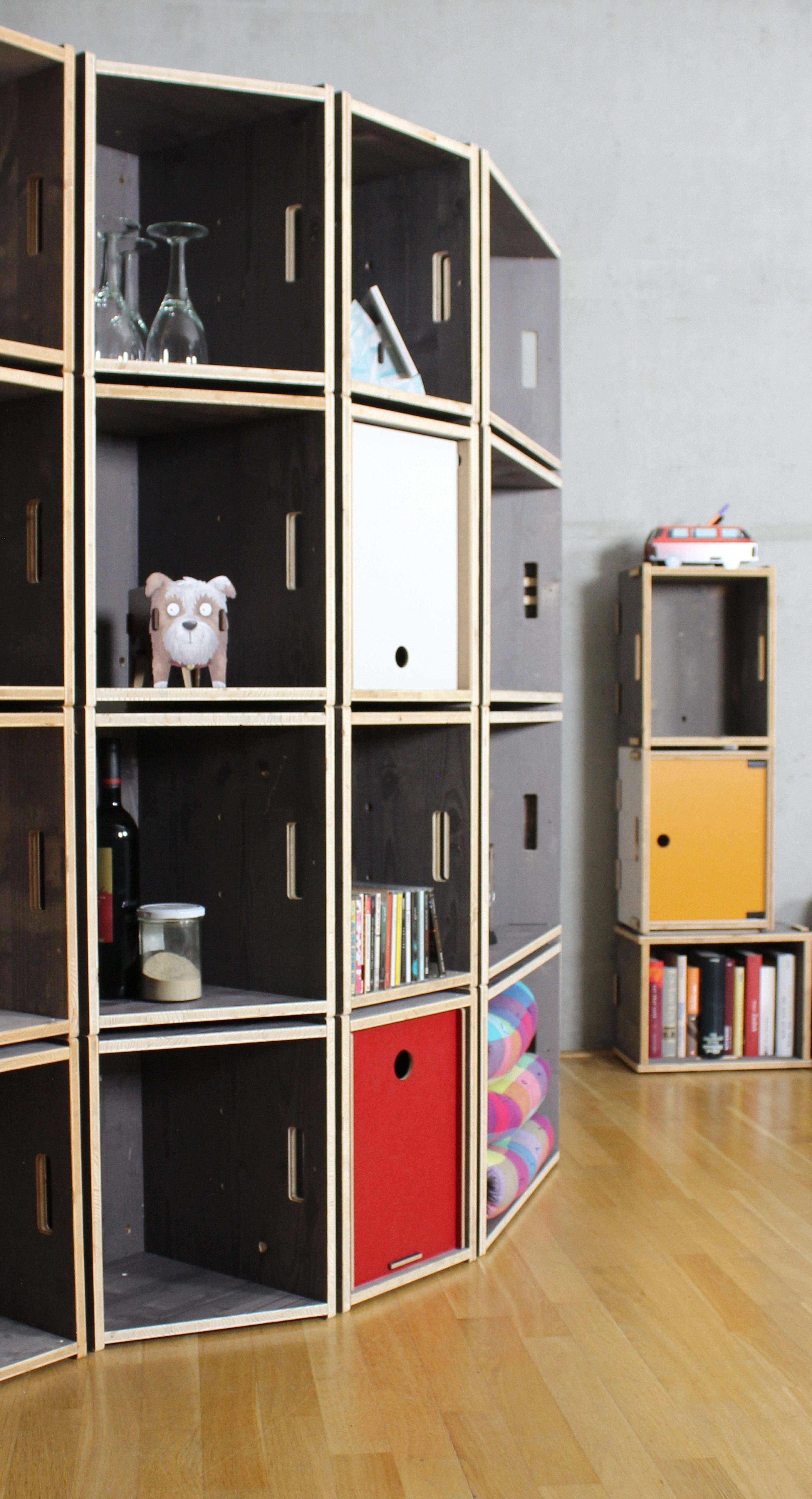 Werkbox 30 Grad Fichte Grau Mit Bildern Rundes Regal Regal