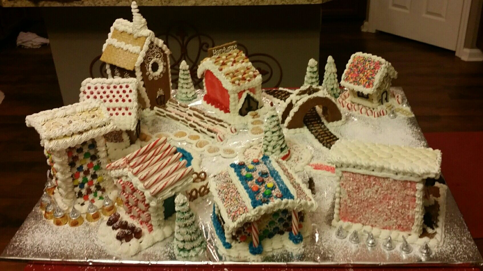 Final Gingerbread Village As Presented At The Jacksonville Historical Society S Gingerbread Extravaganza 2016 I W Gingerbread Village Gingerbread Extravaganza
