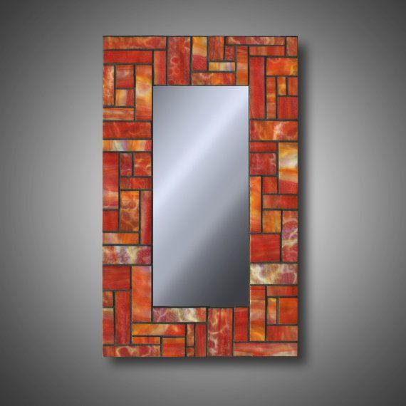 Manchado vidrio espejo mosaico cristal otoño por MudHorseArt ...