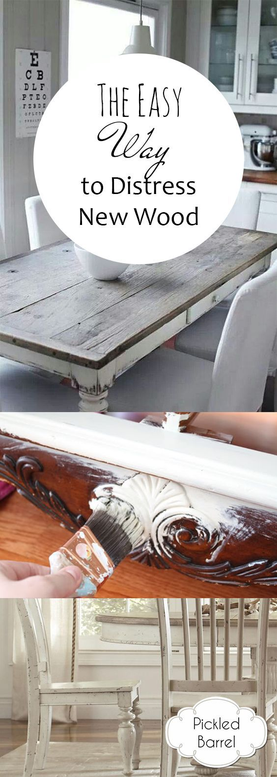 How To Distress Wood, Easy Ways To Distress Wood, Wood Distressing, DIY Wood