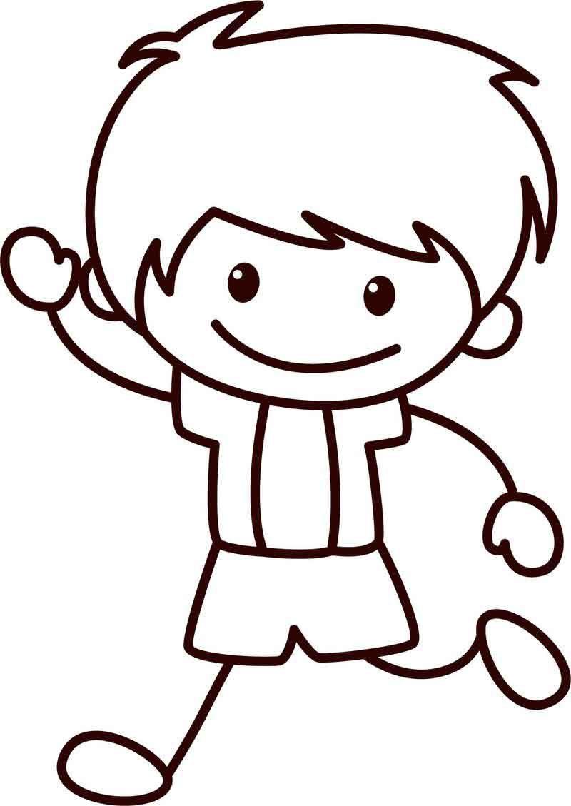 Happy Children School Boy Coloring Page Coloring Pages For Boys Boy Coloring Happy Kids