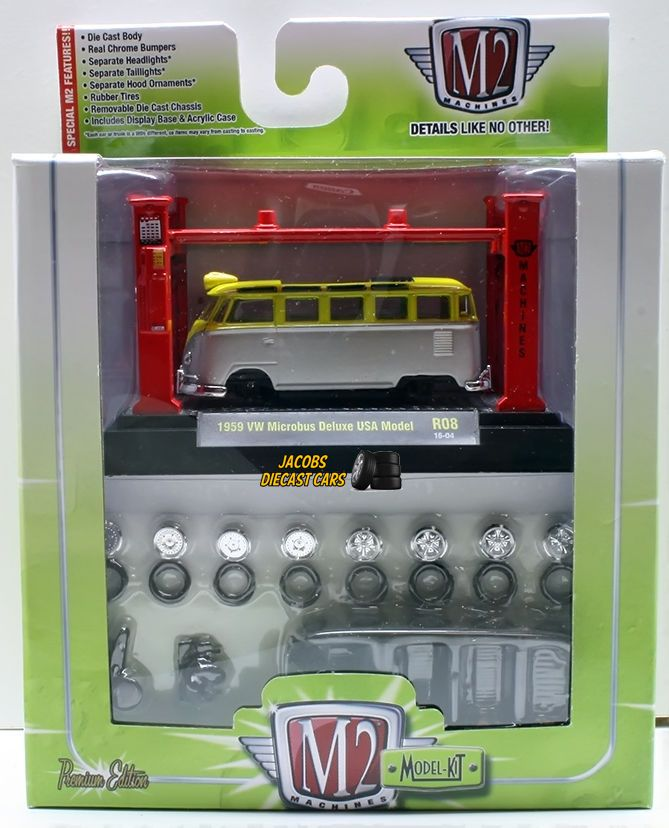 1 64 M2 Machines Model Kit Release 08 1959 Vw Microbus Deluxe Usa Model Diecast Cars Model Kit Rubber Tires