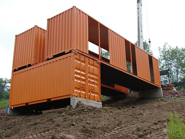 Container house foundations my container home for Foundations for homes