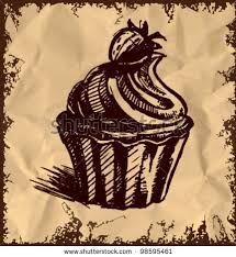 Резултат с изображение за cake drawing vintage