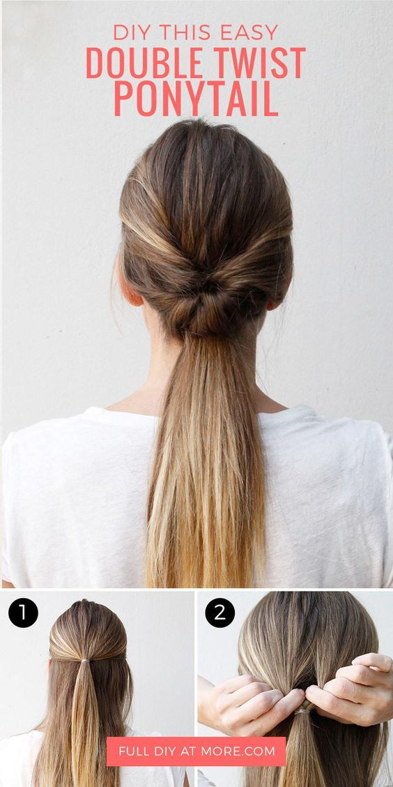 This Double Twist Ponytail Is The Perfect Five Minute Hairstyle