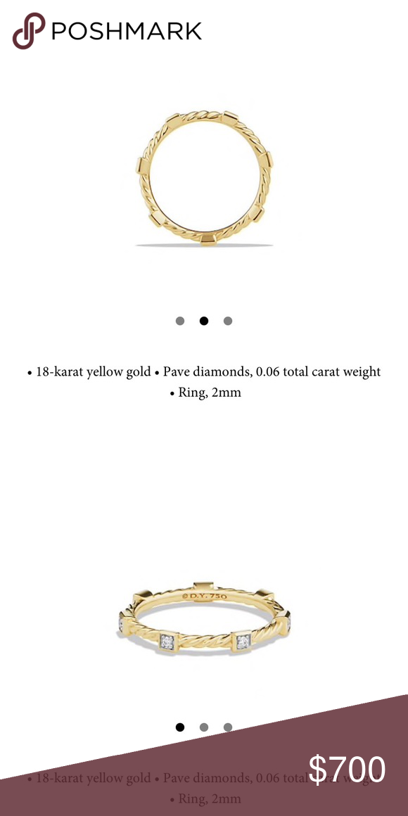 David Yurman Cable Collectibles Ring With Diamonds David Yurman Cable Collectibles Ring With Diamonds In 18k Gold N David Yurman Jewelry Diamond Pave Diamonds