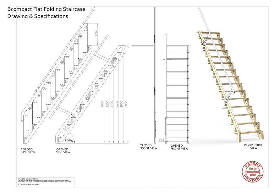 Best Bcompact Hybrid Stairs And Ladders Escaleras Plegables Escaleras De Desván Escaleras De Altillo 400 x 300