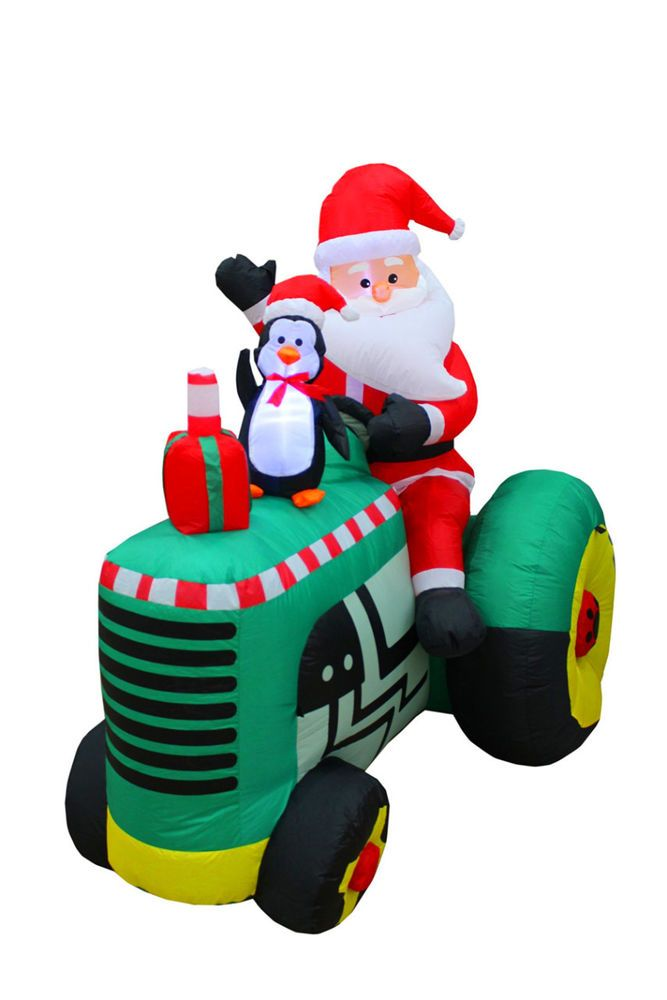 Christmas Inflatable Decorations 53 Ft Tall Santa Claus Drive