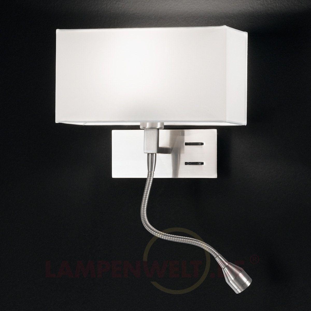 Elegante Wandleuchte Emilian mit LED-Leselampe kaufen  Led