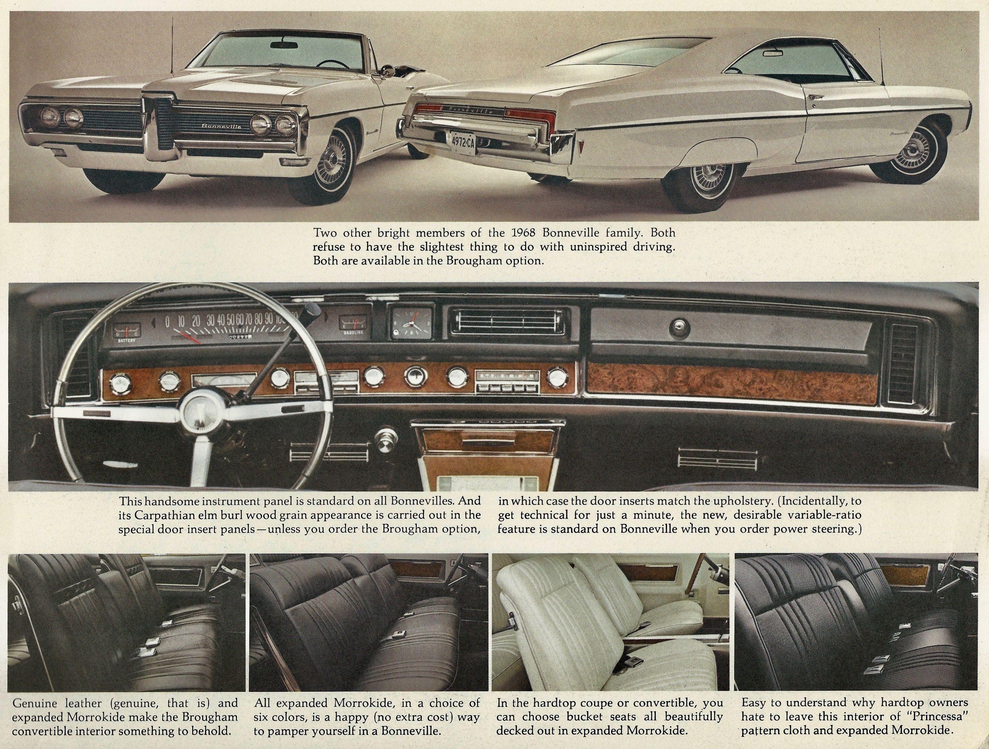 Bonneville Catalina Tempest 1968 Pontiac 16-page Station Wagon Car Brochure