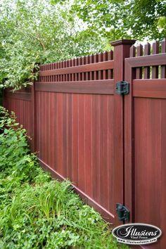 Wood Look Vinyl Fences Google Search