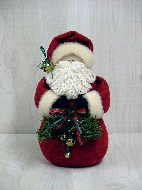 Felt Jingle Bell Santa Natal Pinterest Jingle bells, Felting