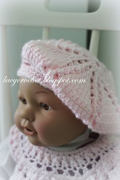 Lacy crochet babytoddler berets free crochet pattern baby girls lacy crochet babytoddler berets free crochet pattern dt1010fo