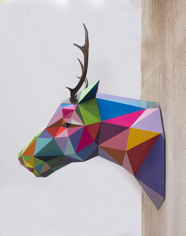 buck head by okuda san miguel instl s art more pinterest kreativ. Black Bedroom Furniture Sets. Home Design Ideas