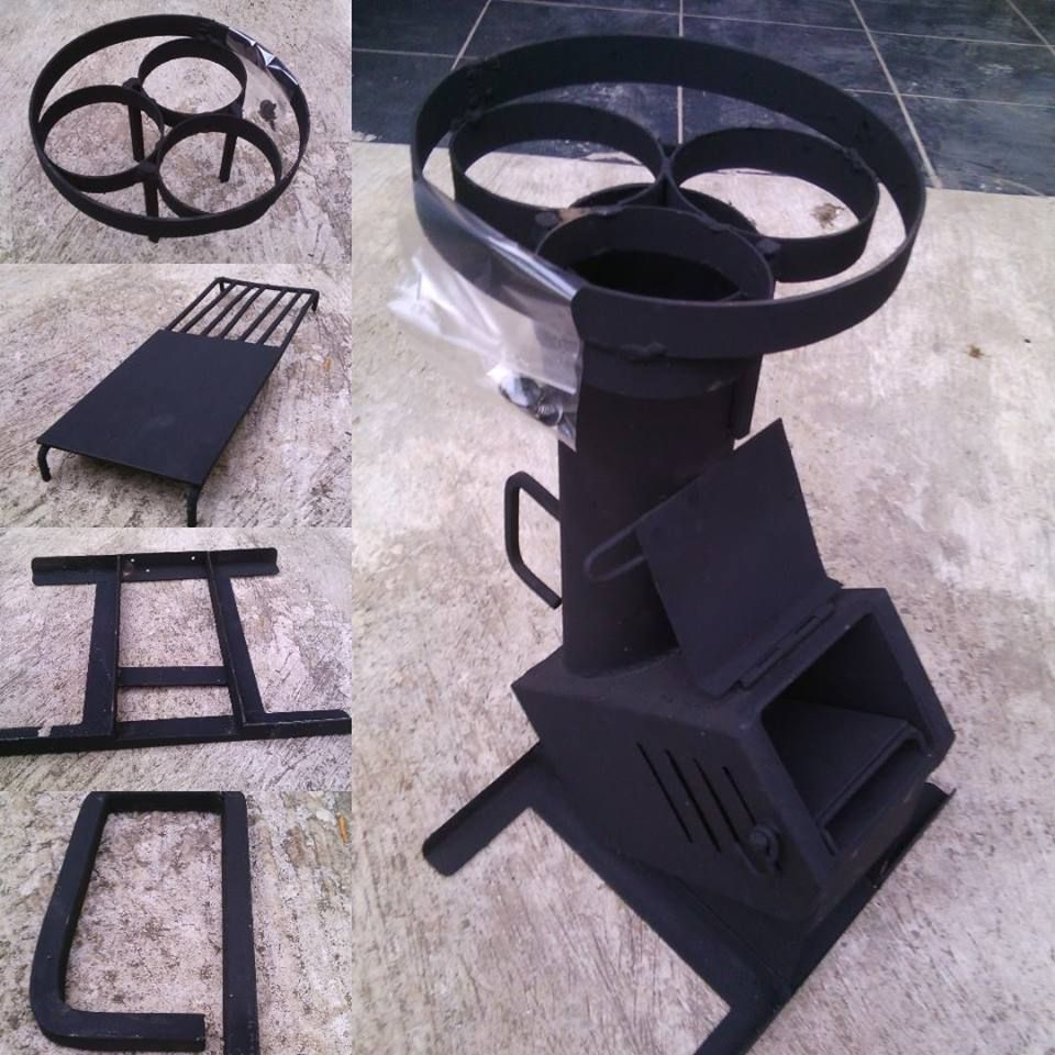 Kompor kayu inovasi rocket stove for sale portable for Portable rocket stove plans
